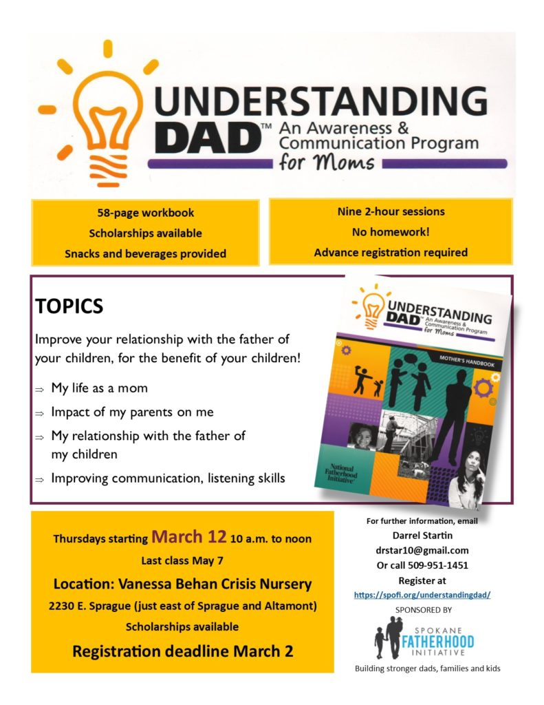 Understanding Dad flyer March 2020