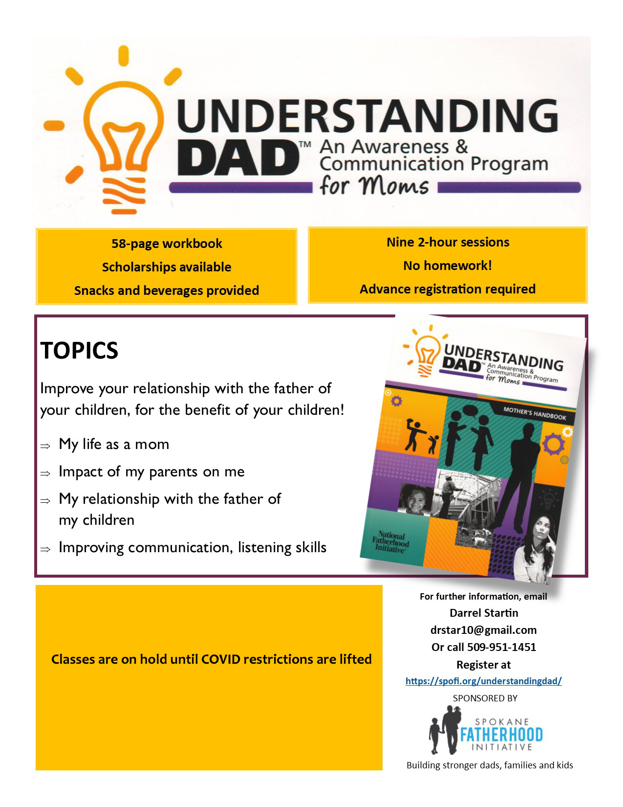 Understanding Dad flyer March 2020 COVID Hold